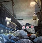 Les parapluies transparents d'Ameyoko - tokyo.