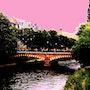 Pink sky in Strasbourg. Max