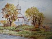 L'église de Mouthe dans le Jura.