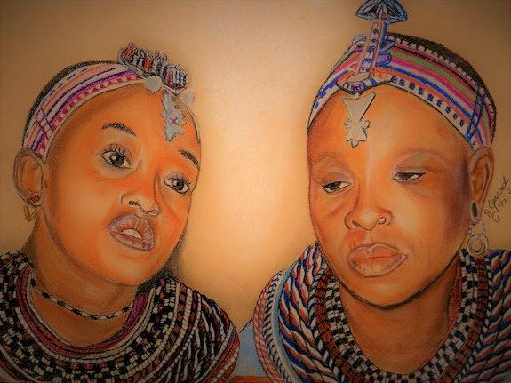 Damaris et Abiba femmes d'Umoja. Sybille Girard Sybartiste