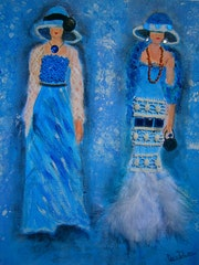 Les demoiselles en bleu.