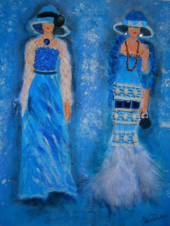 Les demoiselles en bleu. Michèle Michèle G