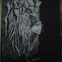Portrait d'un lion. Mireille Vast