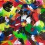 «Boldness shades«original modern abstract street art painting. Xenart