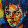 Michael jackson huile sur toile original. T. Me. S