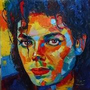 Michael jackson huile sur toile original.