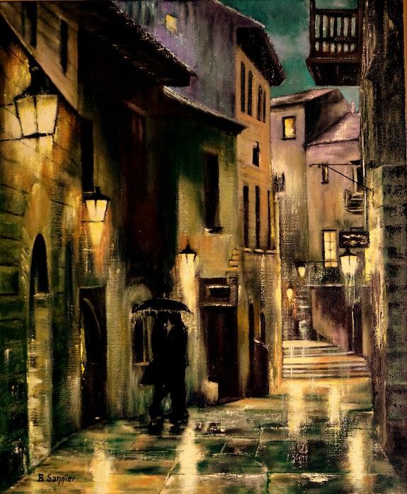 Soir de pluie à Barcelone. B. Sannier Bernard Sannier