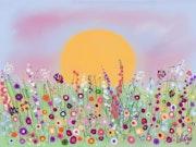 Suave despertar, ternura en la flores.