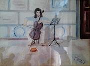 Street musician Rome.