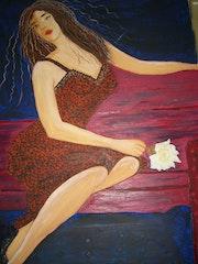 Lady with rose. Estela