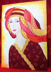 La dame rouge.