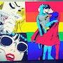 Tableau » Superman & Batman Gay » Acrylique » pièce unique ». Wolvedrine Sl