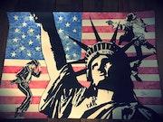 Dessin hommage à Michael Jackson et la statue de la liberté - pièce unique. Wolvedrine Sl