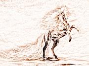 Le cheval se cabre. Marie Carteron