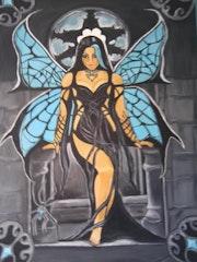 Femme papillon. Merveille