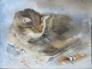 Le chat de l'artiste.