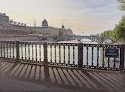 «Contre-jour sur le pont d'Arcole».