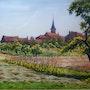 French village with vegetable garden.. Bert Veenema