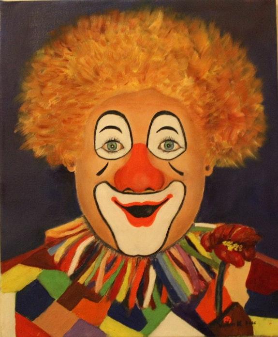 Clown rieur. Villion Michel Peint La Vie