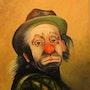 Clown bien triste. Peint La Vie