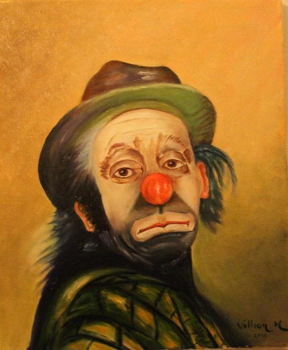 Clown bien triste. Villion Peint La Vie