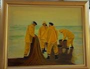 Pescadores en la playa.