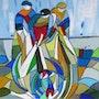 Pêche en vitrail 2. Martine Brandolin