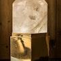 Lampe Superego, cristal de roche. Eric Klein