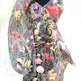Ova, Kleidobjekt, Vorderansicht mit Schulterflügel Ova, Dress Object, Front View. Rosemarie Bühler