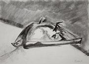 Tote Taube im Rinnstein. Margarita Siebke