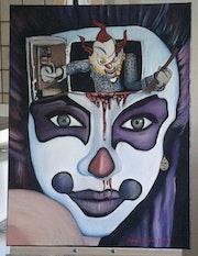 Clown Frau.