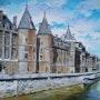 La Conciergerie et la Seine à paris. Pierre Adolle