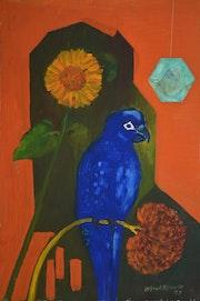 Der blaue Papagei. Alfred