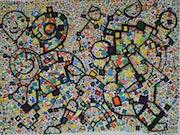 Menschen im Mosaik.