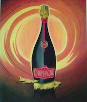 Bouteille Champagne Or. K-Ro