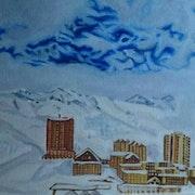 Station de ski de Merlette (Hautes Alpes). Nicole Retureau