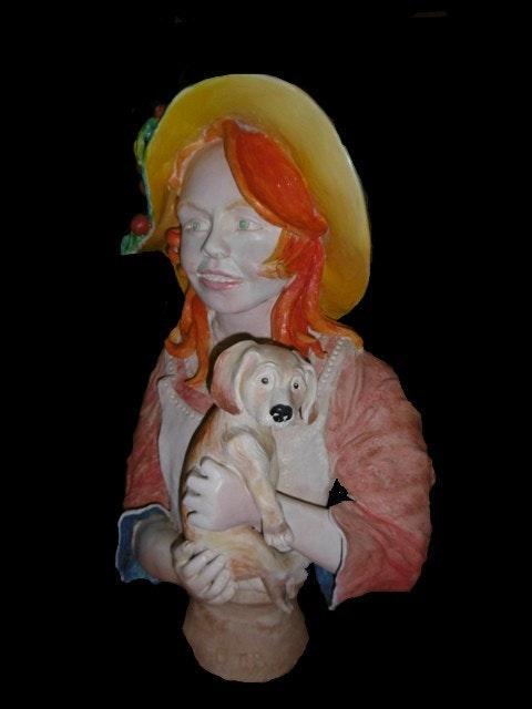 Petite fille e son chien. Tronchet Patrick Patrick Tronchet