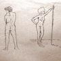 Dues figures nues. Yustebcn
