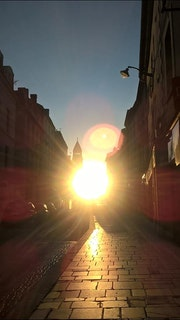 Lever de soleil rue Taillefer Périgueux.