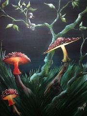 La lumière des champignons.