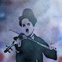 Charlie Chaplin Violin. Justine P.