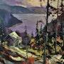 Le camp du fjord au matin. Marc Grandbois