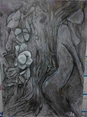 Peinture acrylique sur papier aquarelle. Marie Christine Ast