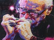 Toots Thielemans (joueur d'harmonica jazz). Atelier Lenoble