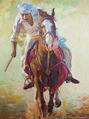 A caballo. Juan Gabarrón Olivares