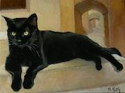 Le chat noir aux yeux vert.