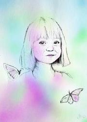 Grandchild, An illustration For Majid Etemad. Sarah Mi Illustration