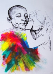 True Colors «The little girl knew how to see true colors». Sarah Mi Illustration