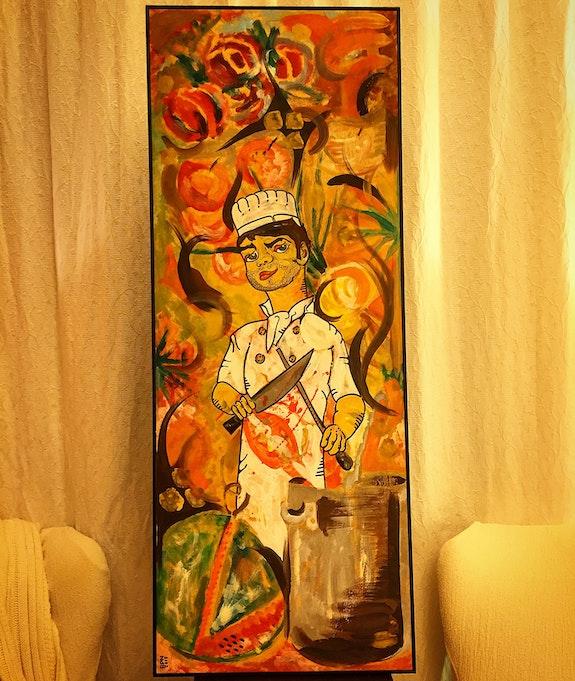 Killer cook and broken watermelon. Ramon Pujol Ramon Pujol