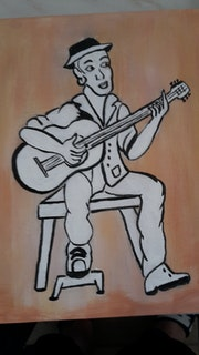Guitariste Manouche.